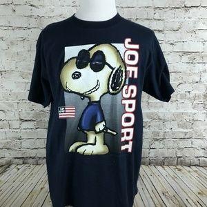 VTG Peanuts Joe Sport T-Shirt Size XL Snoopy 90's